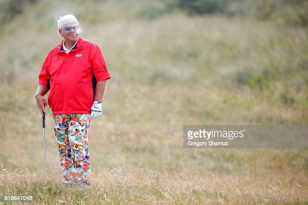 John Daly of the United States looks on from the rough during a practice round prior to the 146th Open Championship at Royal Birkdale on July 19 2017...