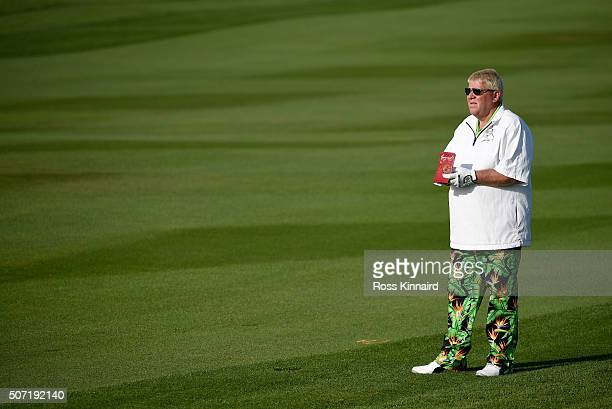 John Daly of the USA on the par four 15th hole during the second round of the Commercial Bank Qatar Masters at the Doha Golf Club on January 28 2016...