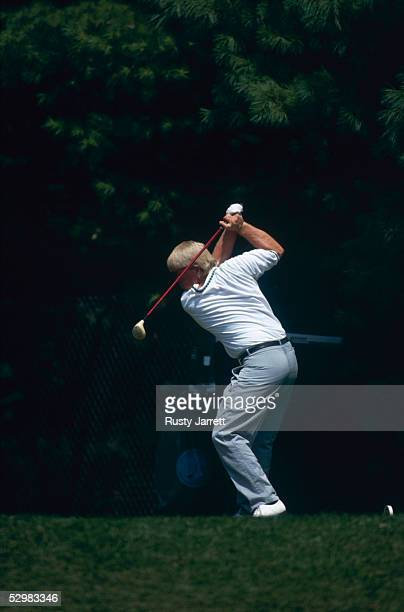 John Daly of the USA plays a shot during the USPGA Championship 1991 at Crooked Stick Golf Club in Indianapolis