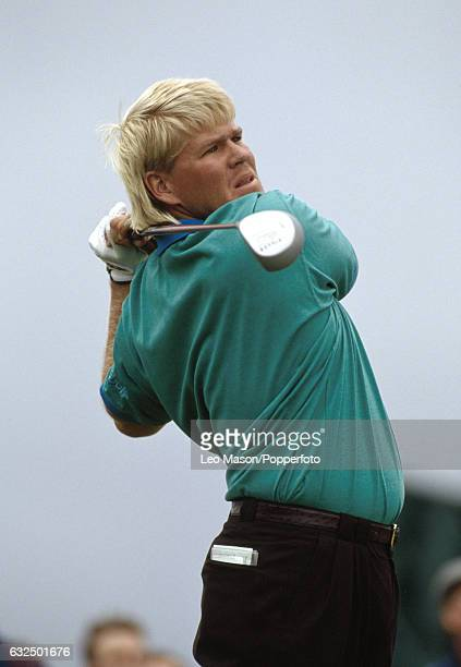John Daly of the USA tees off during the British Open Golf Championship at Royal St George's Golf Club in Sandwich circa July 1993