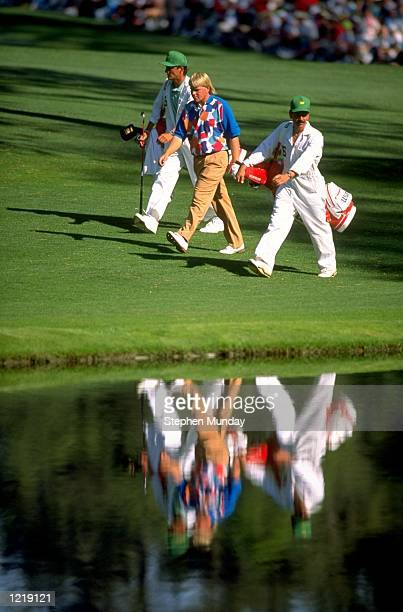 John Daly of the USA walks down the course during the US Masters at the Augusta National Golf Club in Georgia USA Mandatory Credit Stephen...