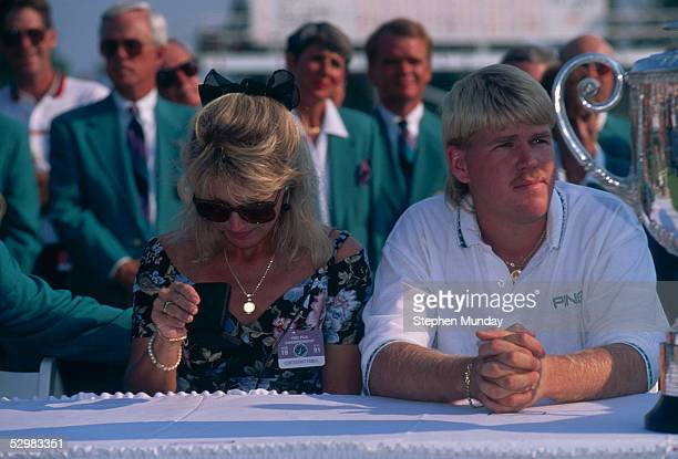John Daly of the USA with his fiance during the USPGA Championship 1991 at Crooked Stick Golf Club in Indianapolis