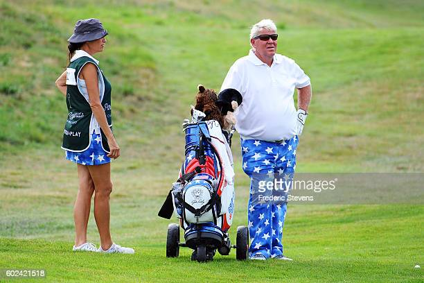 John Daly of United States in action during the final round of the Paris Legends Championship played on L'Albatros Course at Le Golf National on...