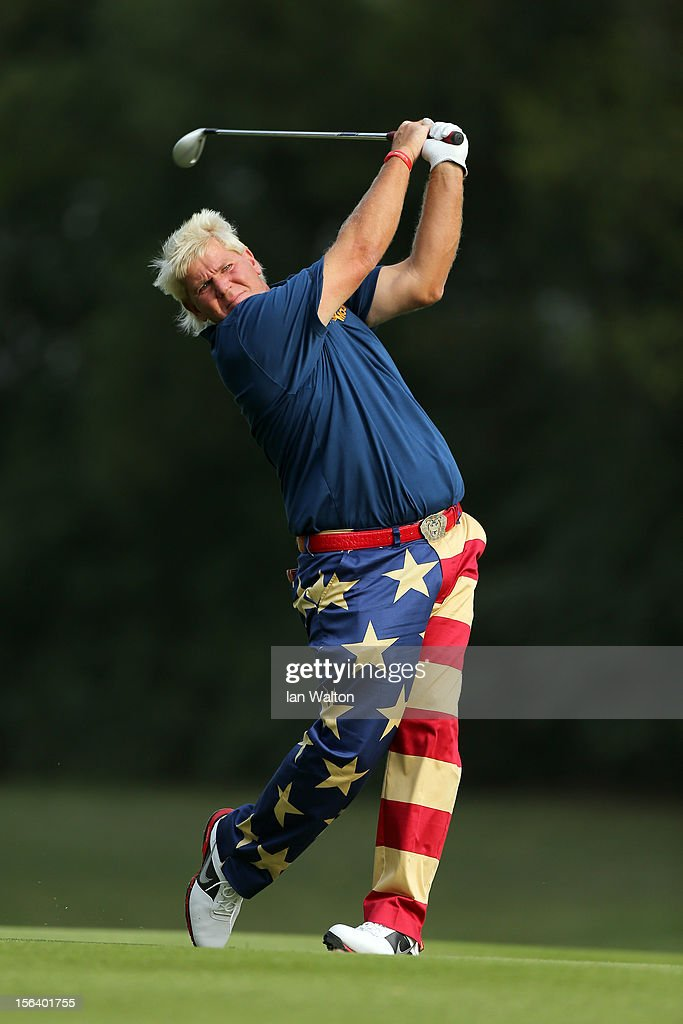 John Daly of USA in action during first round of the UBS Hong Kong Open at The Hong Kong Golf Club on November 15, 2012 in Hong Kong, Hong Kong.