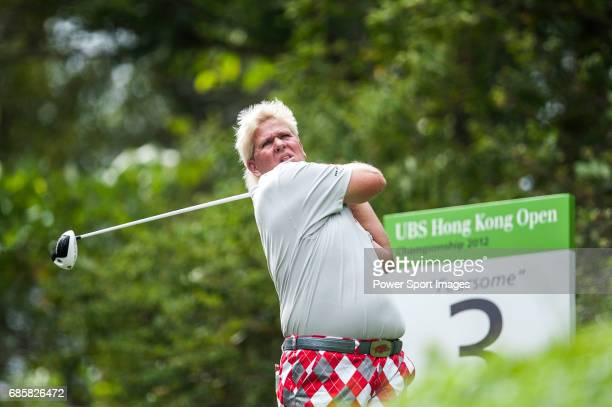 John Daly of USA in action during the UBS Hong Kong Golf Open on 16 November 2012 at the Fanling Golf Course in Hong Kong China
