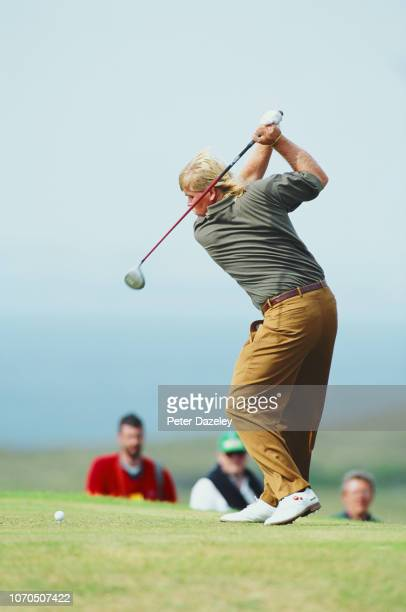 John Daly tee shot during the 1995 Open Championship on 20–23 July 1995 at the Old Course at St Andrews in St Andrews Scotland John Daly won his...