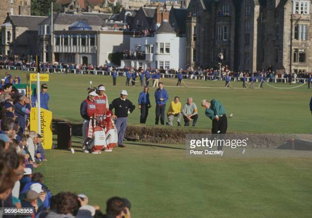 John Daly tee shot from the 2nd hole during the 1995 Open Championship on 20–23 July at the Old Course at St Andrews in St Andrews Scotland John Daly...