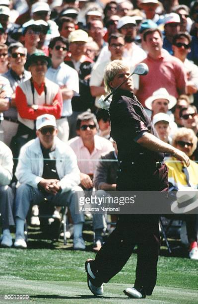 John Daly Tees Off During The 1993 Masters Tournament