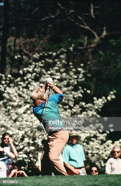 John Daly Tees Off During The Final Round Of The 1993 Masters Tournament