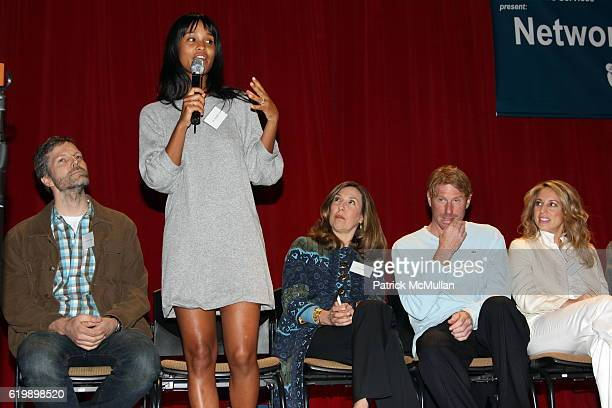 John David Allen, Joy Bryant, Leslee Dart, Eric Eisner and Lauren Glassberg attend New Yorkers For Children Entertainment Network to Success at New...