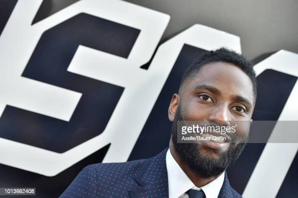 John David Washington arrives at the premiere of Focus Features' 'BlacKkKlansman' at Samuel Goldwyn Theater on August 8, 2018 in Beverly Hills,...