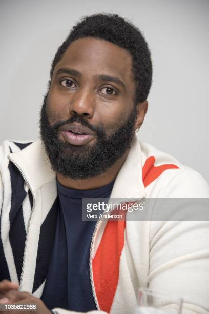 John David Washington at the 'Monsters and Men' Press Conference at the Four Seasons Hotel on September 17 2018 in Beverly Hills California