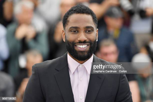 John David Washington attends BlacKkKlansman Photocall during the 71st annual Cannes Film Festival at Palais des Festivals on May 15 2018 in Cannes...