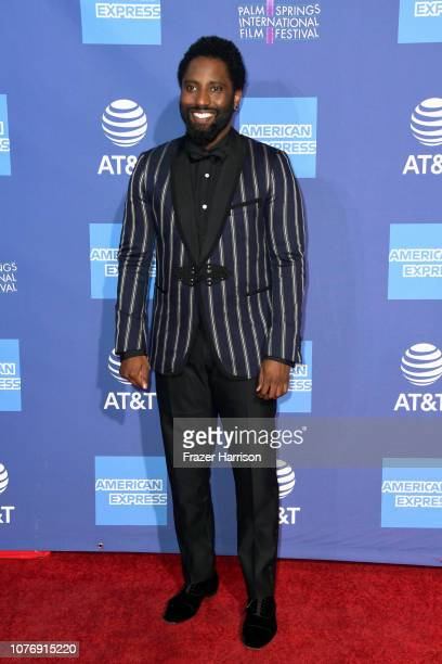 John David Washington attends the 30th Annual Palm Springs International Film Festival Film Awards Gala at Palm Springs Convention Center on January...