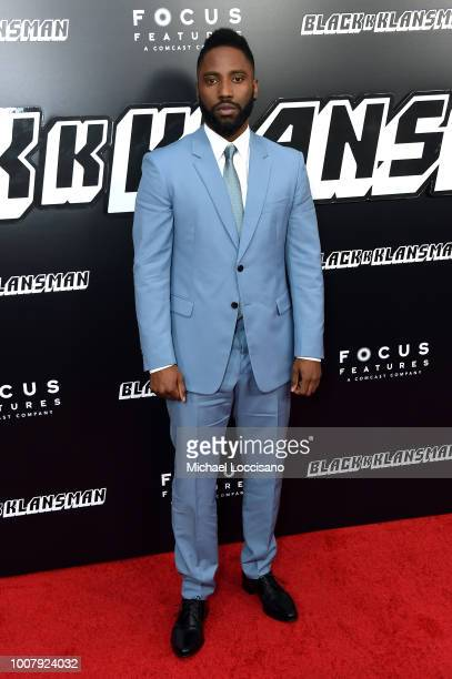John David Washington attends the 'BlacKkKlansman' New York Premiere at Brooklyn Academy of Music on July 30 2018 in New York City