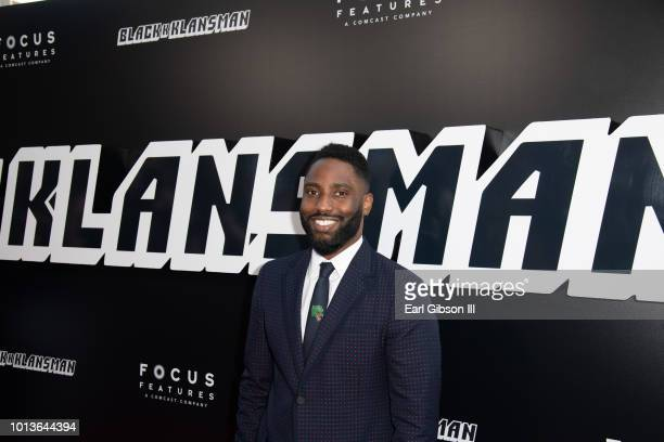 John David Washington attends the Premiere Of Focus Features BlackkKlansman at Samuel Goldwyn Theater on August 8 2018 in Beverly Hills California