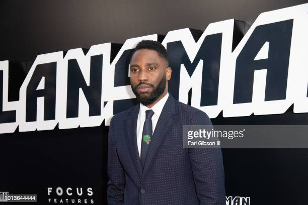"""John David Washington attends the Premiere Of Focus Features """"BlackkKlansman"""" at Samuel Goldwyn Theater on August 8, 2018 in Beverly Hills,..."""
