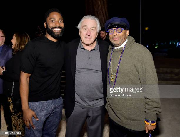 John David Washington Robert De Niro and Spike Lee attend Celebrate the Season Ted's Holiday Toast at Private Residence on November 15 2019 in...