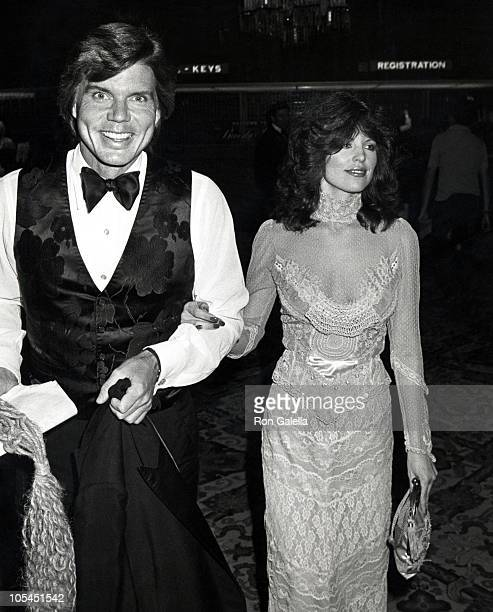John Davidson and Rhonda Rivera during Gala Evening in Monaco Dubnoff Center Benefit April 24 1981 at Beverly Hilton Hotel in Beverly Hills...