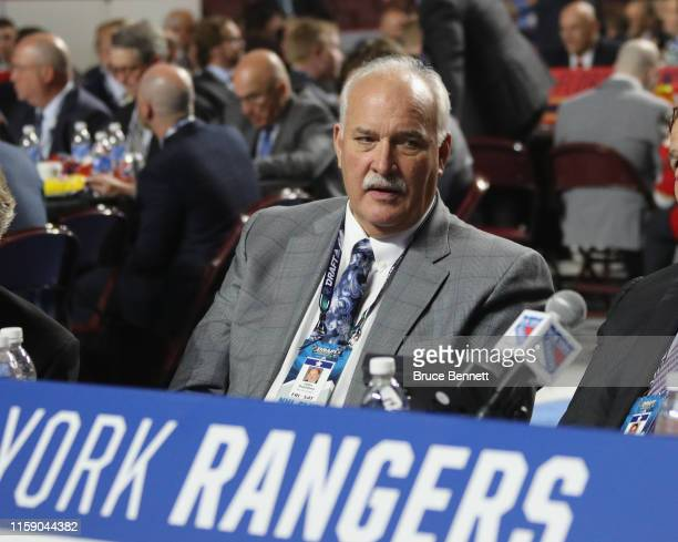 John Davidson of the New York Rangers attends the 2019 NHL Draft at the Rogers Arena on June 22 2019 in Vancouver Canada