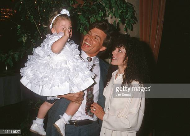 John Davidson Wife Rhonda Rivera and Daughter during 1988 Mother Daughter Fashion Show at Beverly Hilton Hotel in Beverly Hills CA United States