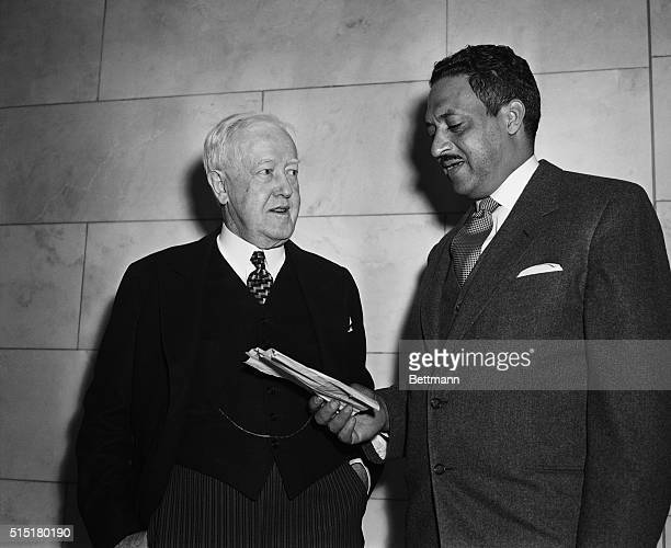 John Davis and Thurgood Marshall argued for and against school segregation before the Supreme Court in Brown v Board of Education Marshall's...