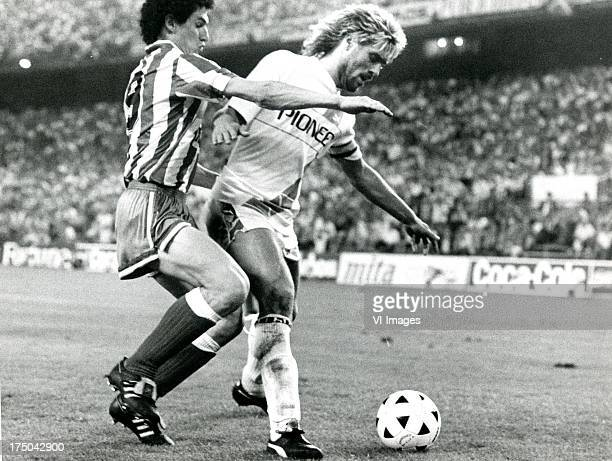 John de Wolf of FC Groningen during the Europa Cup 3 match between Atletico Madrid and FC Groningen on october 5 1988 in Madrid The Netherlands