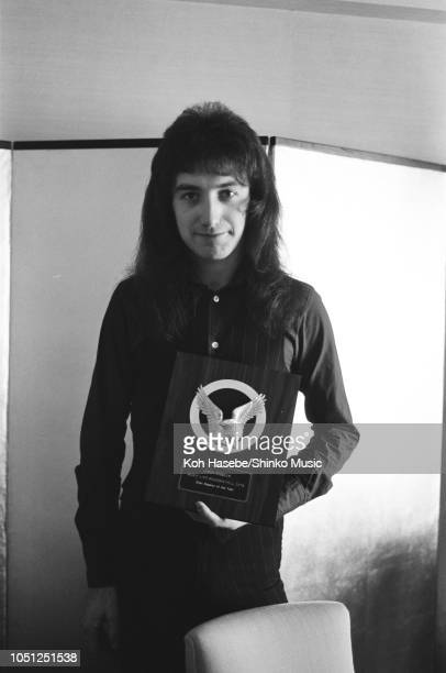 John Deacon of Queen photo session for 'Music Life' magazine at Hotel Pacific Tokyo on their Night At The Opera tour Tokyo Japan 21 March 1976 It was...