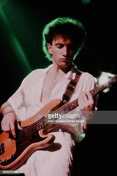 John Deacon playing live at Nippon Budokan Tokyo May 8 1985