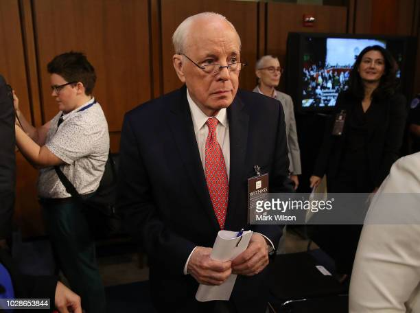 John Dean former White House counsel to President Nixon attends a hearing on the nomination of federal appeals court judge Brett Kavanaugh to be an...