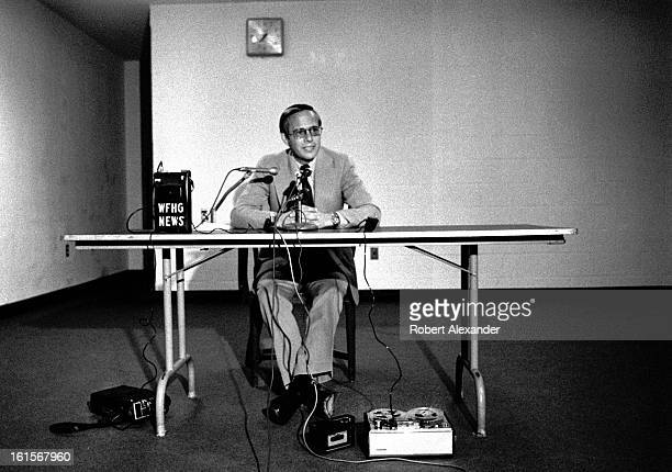 John Dean III former White House Counsel to President Richard Nixon during the Watergate scandal conducts a press conference at Virginia Intermont...