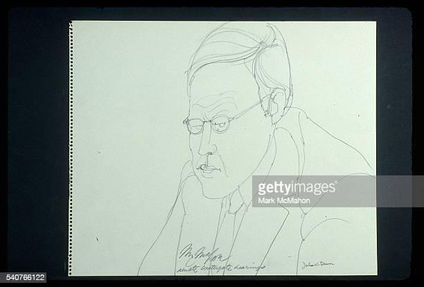 John Dean Testifies at Watergate Hearings by Franklin McMahon