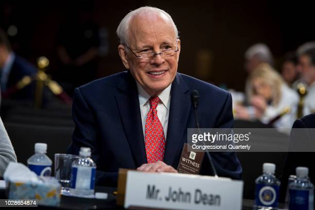 John Dean White House Counsel for United States President Richard Nixon testifies on the fourth day of Brett Kavanaugh's hearing before members of...