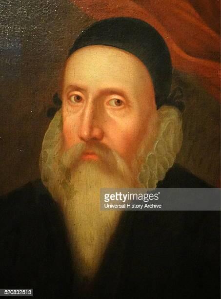 John Dee 15271608 astrologer to Queen Elizabeth I Tudor portrait oil on canvas circa 1594