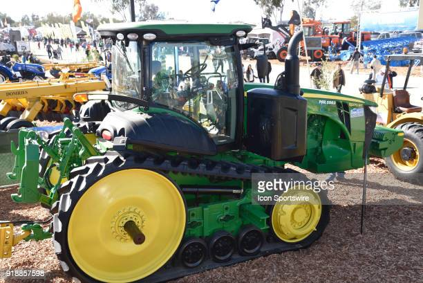 John Deere 8370RT track tractor on display during the 51st World Ag Expo on February 13 2018 at the International AgriCenter in Tulare CA