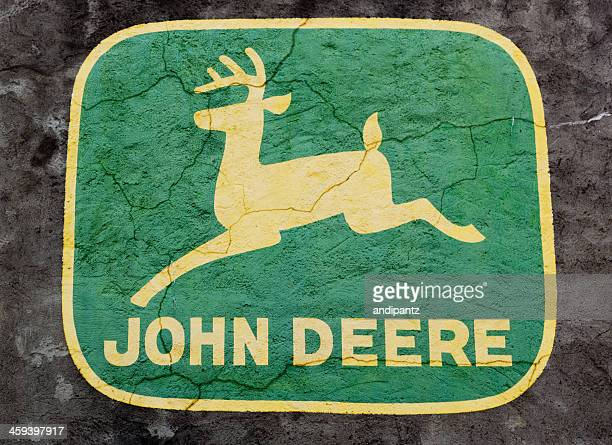 john deere logo - john deere stock pictures, royalty-free photos & images