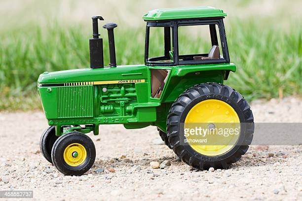 john deere replica toy tractor - john deere stock pictures, royalty-free photos & images