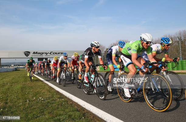 John Degenkolb of Germany and Team GiantShimano heads towards victory on a lap of the grand prix circuit during stage 3 of the ParisNice race from...