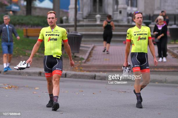 John Degenkolb of Germany / Koen de Kort of Netherlands / Team Trek Segafredo / during 9th Grand Prix Cycliste de Quebec Montreal 2018 Training...