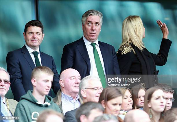 John Delaney Football Association of Ireland Chief Executive attends the match