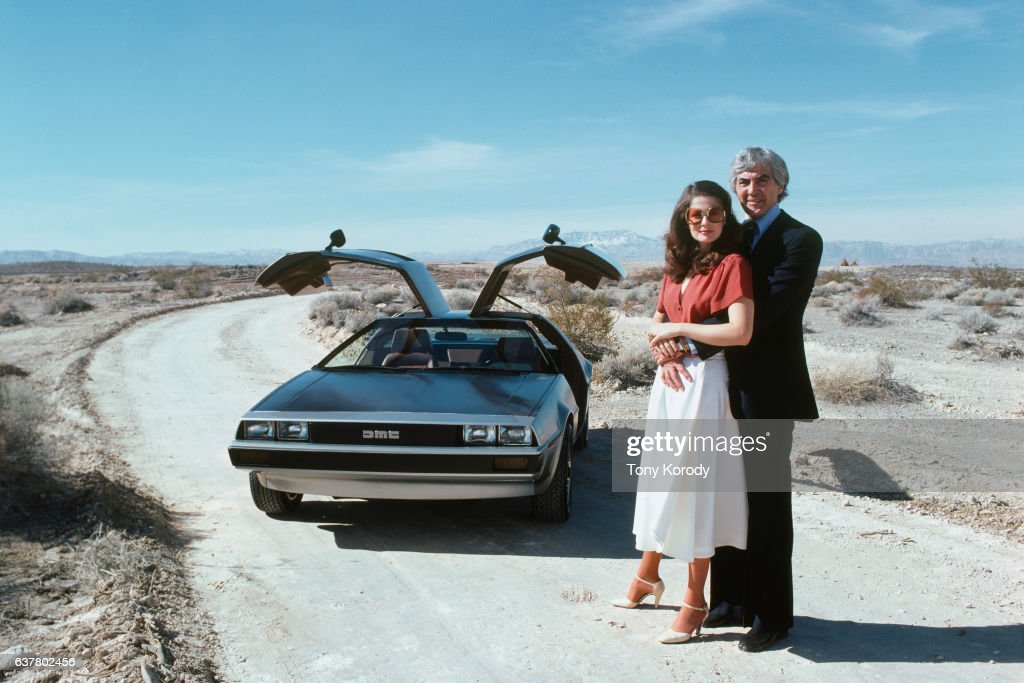 John DeLorean and His Wife Cristina Ferrare : News Photo