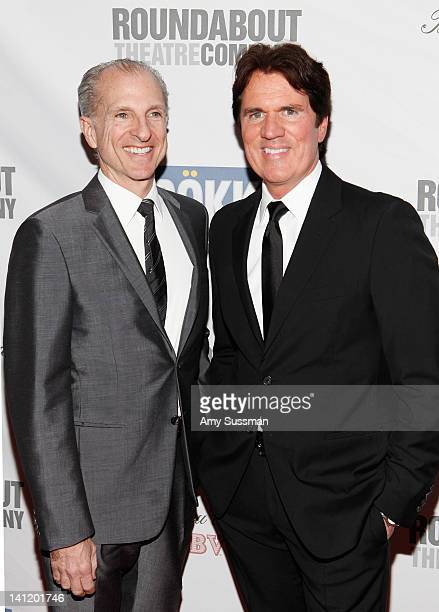 John DeLuca and honoree Rob Marshall attend The Roundabout Theatre 2012 Spring Gala From Screen to Stage dinner and auction at the Hammerstein...