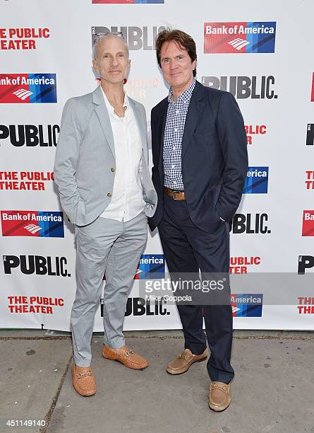 """John DeLuca and Rob Marshall attends the Public Theater's 2014 Gala celebrating """"One Thrilling Combination"""" on June 23, 2014 in New York, United..."""