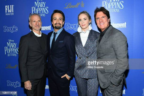 John Deluca LinManuel Miranda Emily Blunt and Rob Marshall attend the Mary Poppins Returns New York screening hosted by The Cinema Society at The Top...
