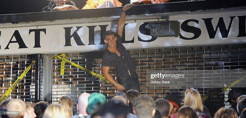 John DeLuca on the set of 'Staten Island Summer' on September 5, 2013 in Staten Island, New York.
