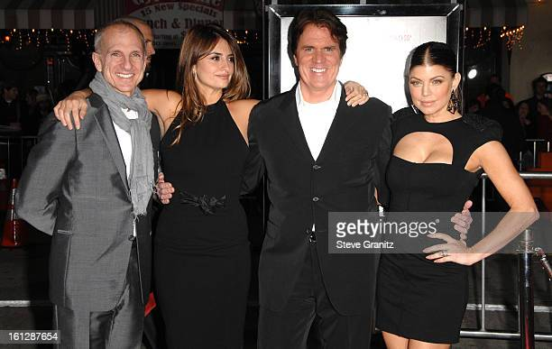 """John Deluca, Penelope Cruz, Rob Marshall and Stacy """"Fergie"""" Ferguson attends the """"NINE"""" Los Angeles Premiere at Mann Village Theatre on December 9,..."""