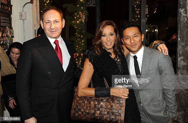 John Dempsey Donna Karan and Prabal Gurung attend the ACRIA 2011 Holiday dinner at the Stephan Weiss Studio on December 7 2011 in New York City