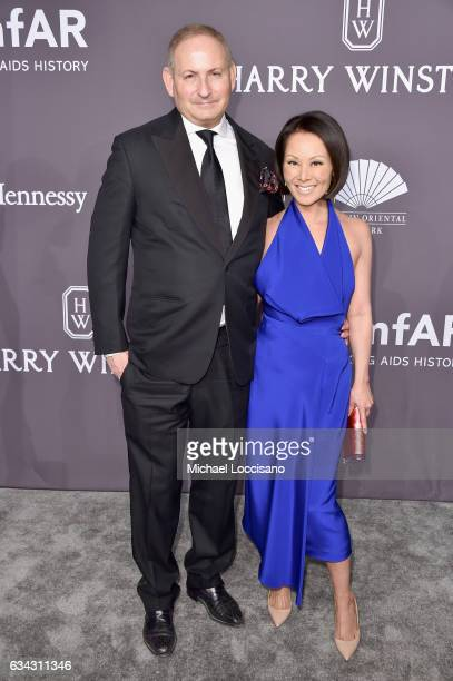 John Demsey and Alina Cho attend the 19th Annual amfAR New York Gala at Cipriani Wall Street on February 8 2017 in New York City