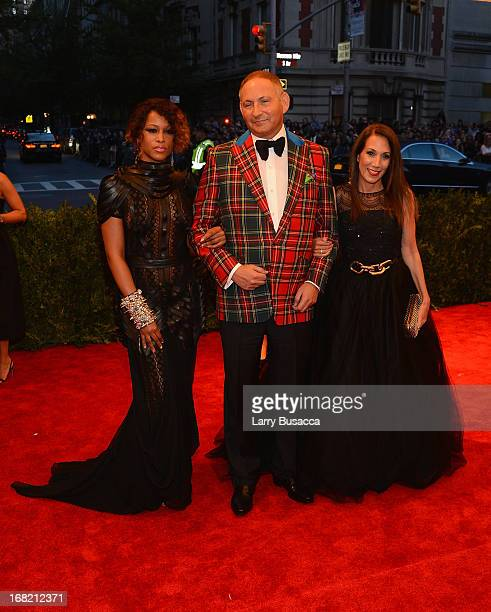 John Demsey and guests attend the Costume Institute Gala for the PUNK Chaos to Couture exhibition at the Metropolitan Museum of Art on May 6 2013 in...