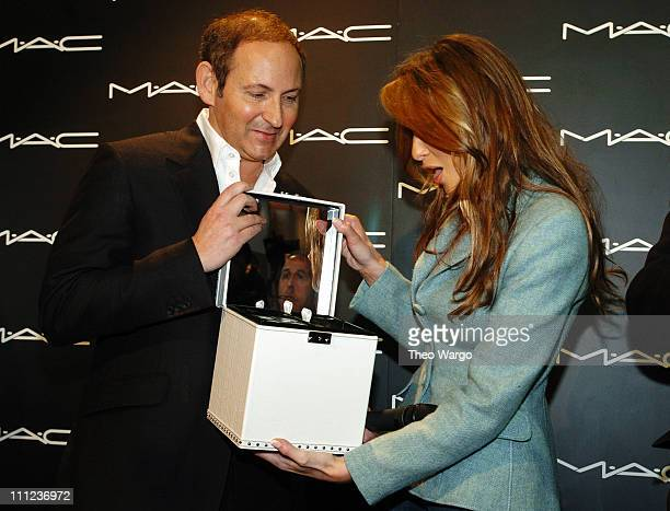 John Demsey and Melania Trump during Melania Trump Receives MAC Cosmetics 'Star of the Week' at The Tent Bryant Park in New York City New York United...